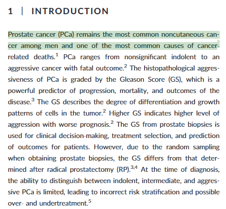 Archived Post ] Assessment of prostate cancer prognostic Gleason