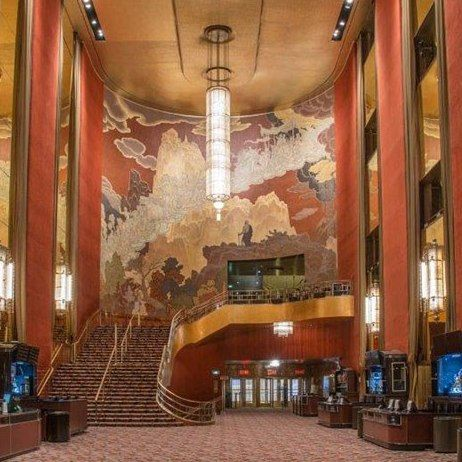 "Photograph from Architectural Digest via pinterest.ca profile. ""The Fountain of Youth"" mural by Ezra Winter at RCMH."