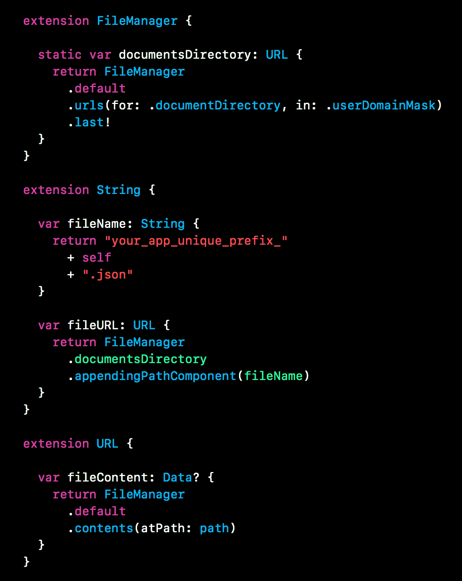 Swift snippet #13 — Extension Oriented API - Swift Snippets