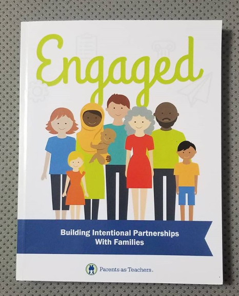 """The cover of """"Engaged: Building Intentional Partnerships With Families."""""""