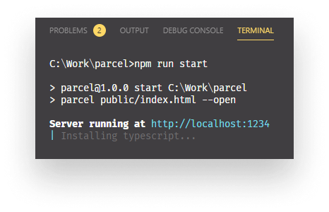Parcel automatically starts installation for missing packages