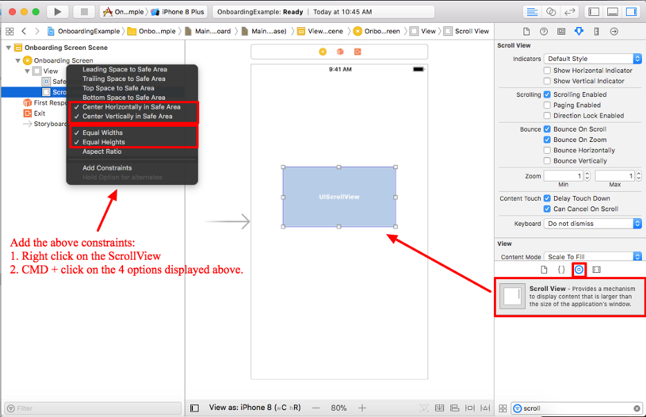 Create a Horizontal Paging UIScrollView with UIPageControl Swift 4