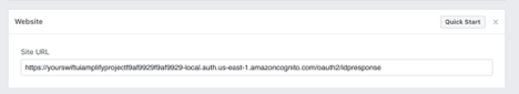 """On the bottom of the settings in Facebook Developers console, you should press """"Add Platofrm"""" and insert the mentioned URL"""