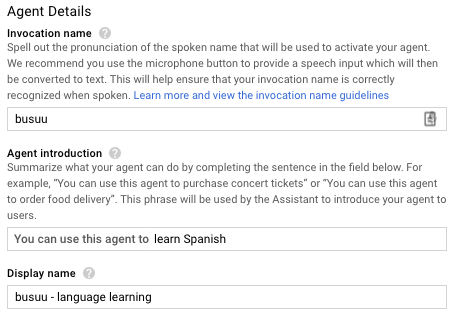 Creating a new busuu experience for the Google Assistant on