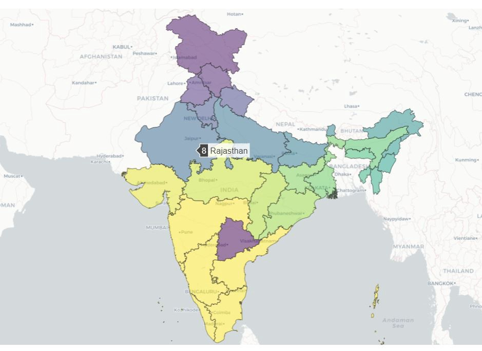 Interactive choropleth maps in python