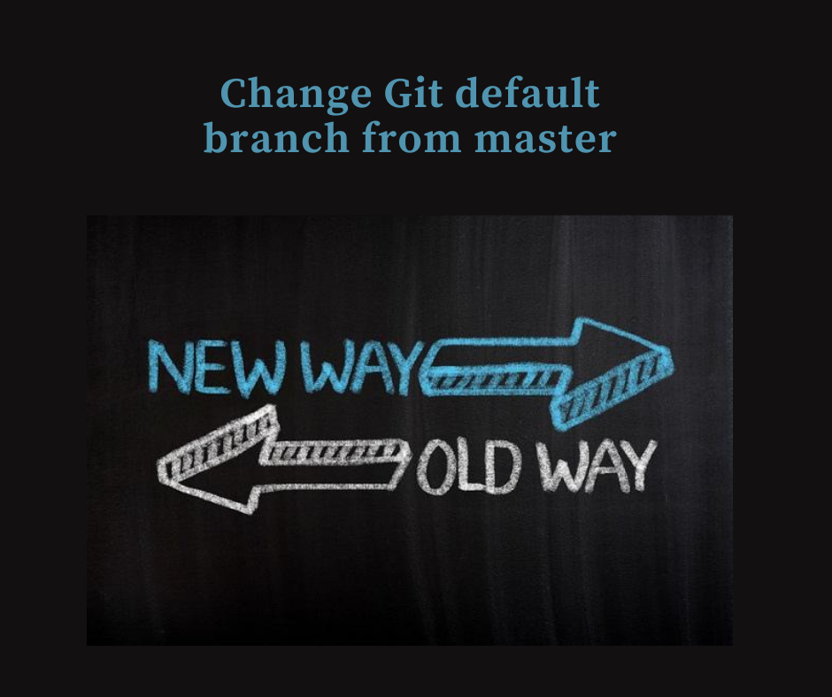 How to change git default branch from master