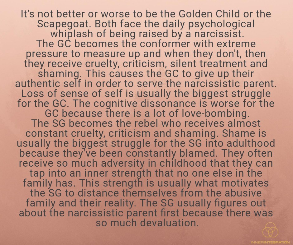 The Narcissistic Parent Of Special >> Scapegoat Golden Child How And Why Narcissists Assign
