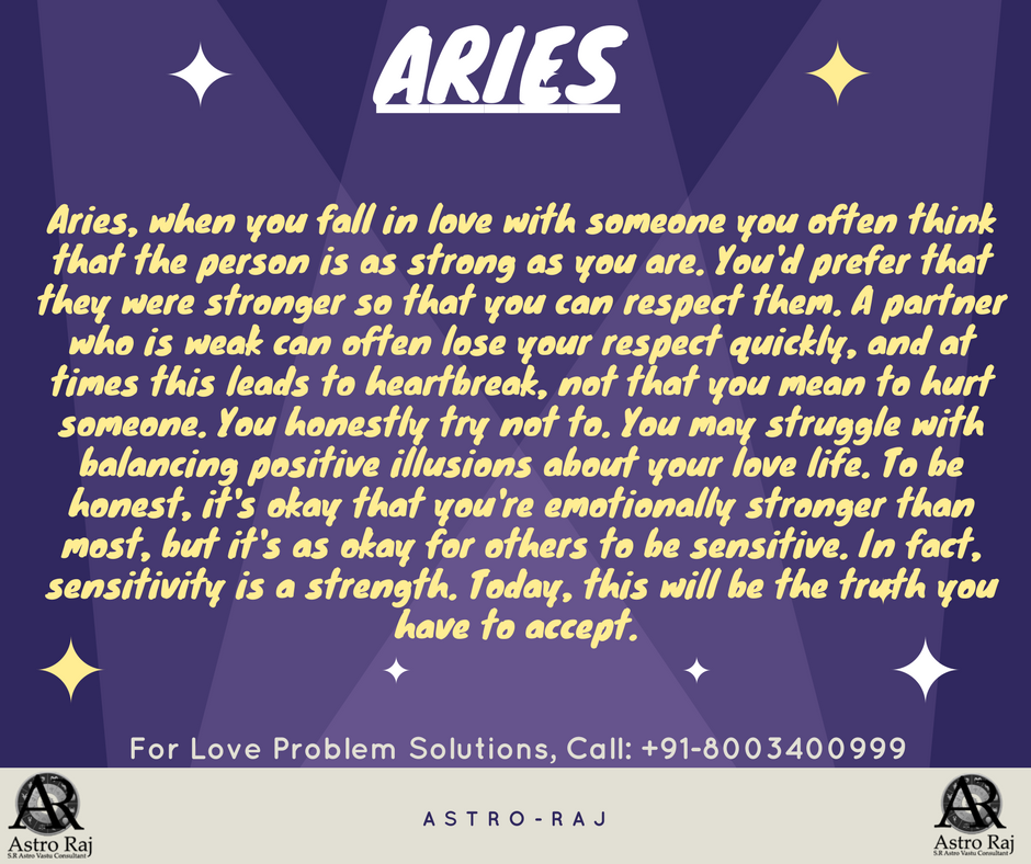 aries horoscope for today love