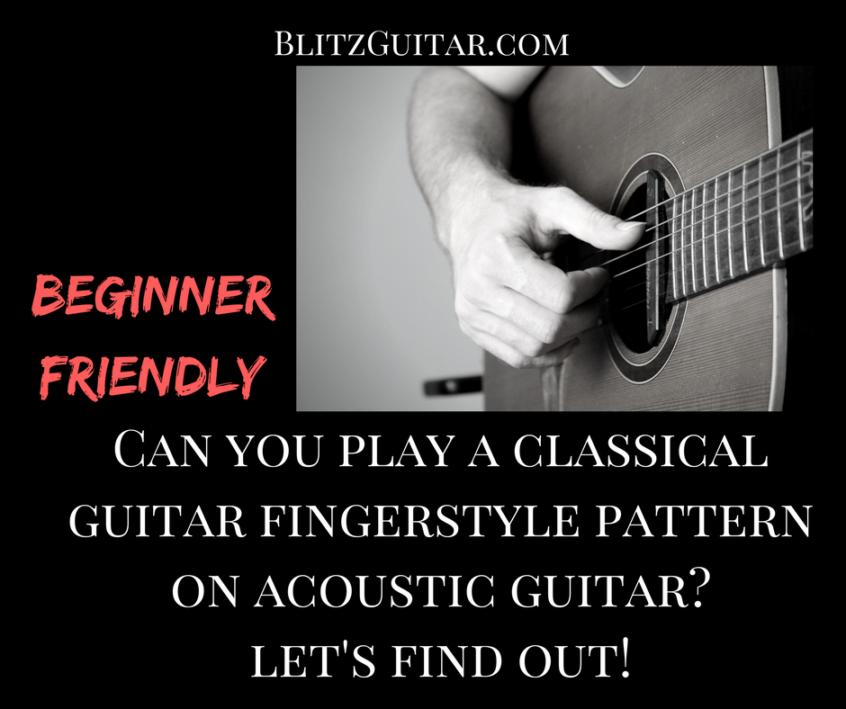Classical Guitar Fingerstyle Pattern for Beginners - Marco