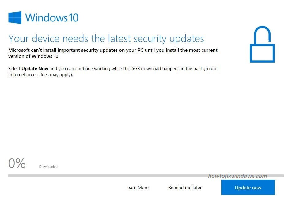 How to stop forced update to latest version of windows