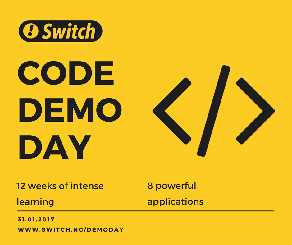 Switch Code Demo Day I M Please To Announce That Our Fellows By Sheriff Shittu O Medium