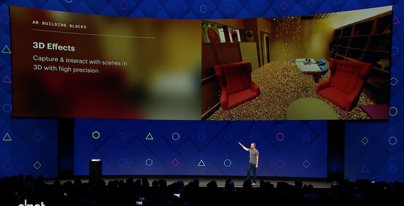 F8 facebook new augmented reality camera filters