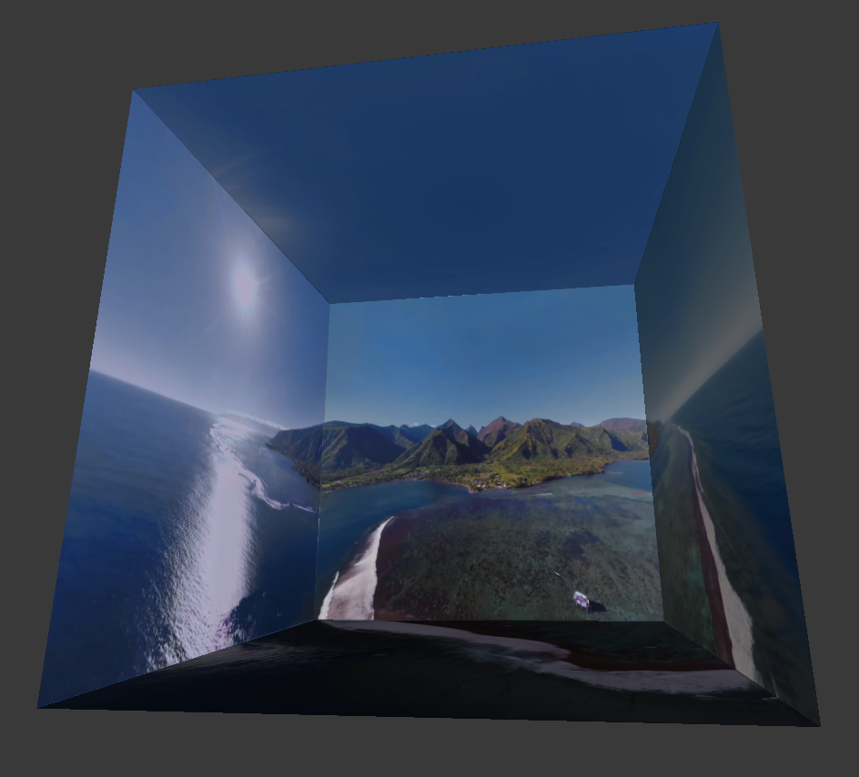 Rendering a cube-mapped 360 video in Three js - Andy