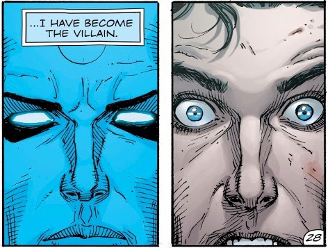 "Dr. Manhattan: ""I have become the villain."""