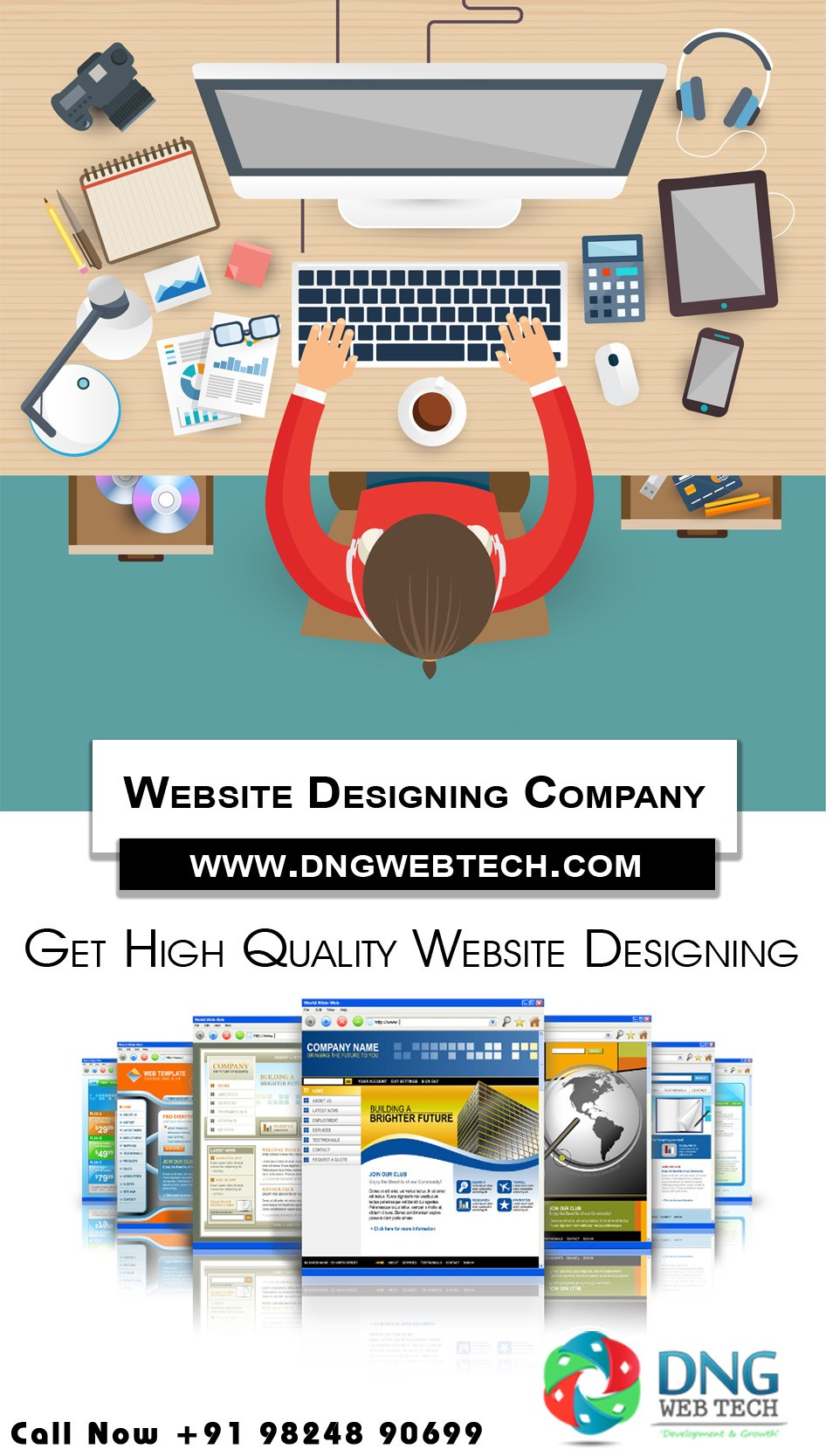 Hire A Dedicated Website Development Company In Ahmedabad By Dng Webtech Medium