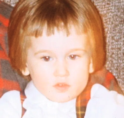 A toddler with a bad haircut