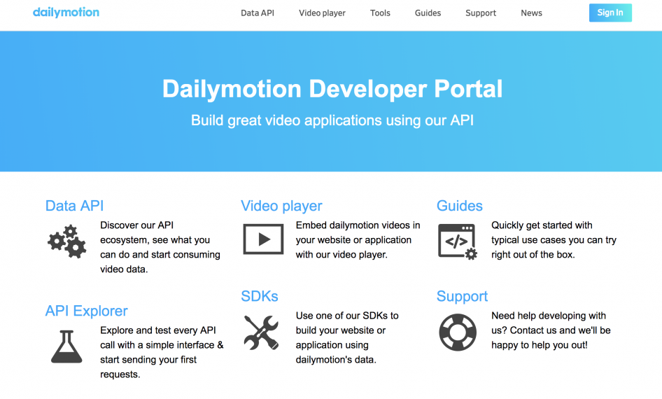 Using the dailymotion API to create a simple UWP application