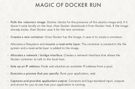 Magic of docker run