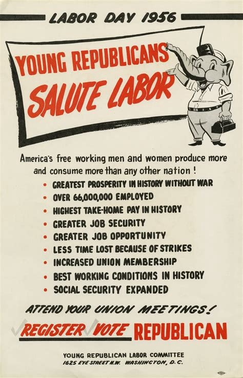 1956 GOP Labor Day poster