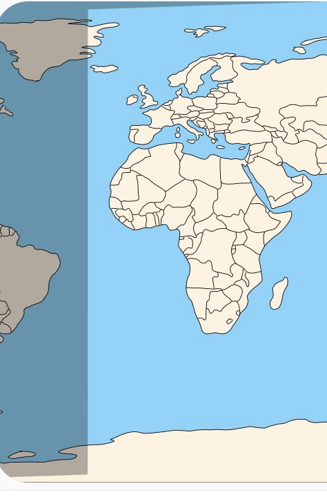 Snapshot of daylight curve on world map, which becomes an almost straight line on equinox day, when day and night are equal