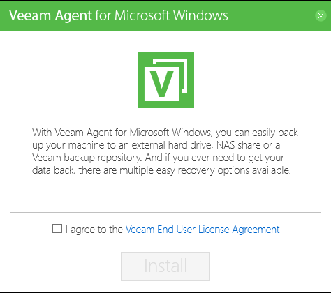 Back up your computer with Veeam Agent for Microsoft Windows
