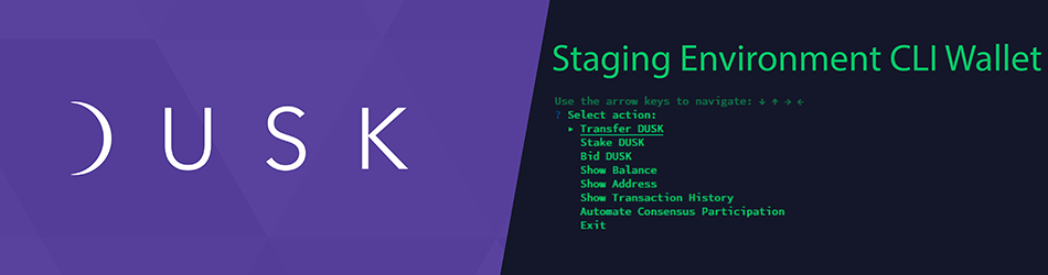 Dusk Network | Running the CLI Wallet in our Staging Environment