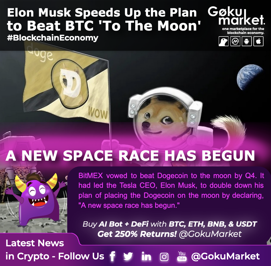 ElonMusk Speeds Up the Plan to Beat Bitcoin 'To The Moon'