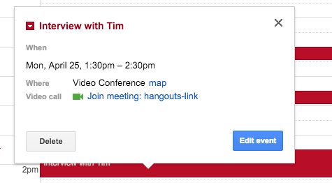 How to Add Google Calendar Hangouts Links to Mac and iOS