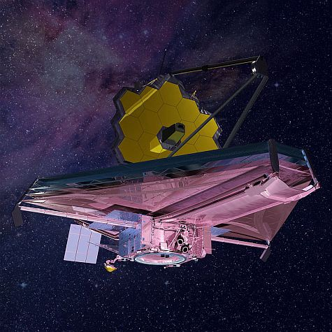 An artist's concept of The James Webb Space Telescope in space.