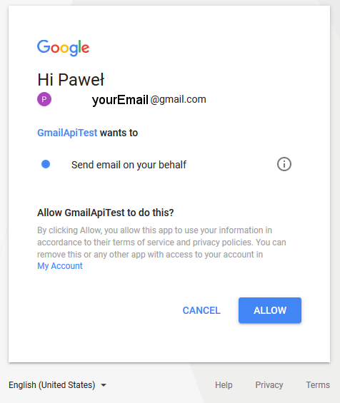 Google API authentication with OAuth 2 —on the example of gmail