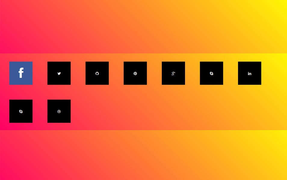 3 jQuery & CSS3 Icon Hover Effects Tutorials - Bradley Nice