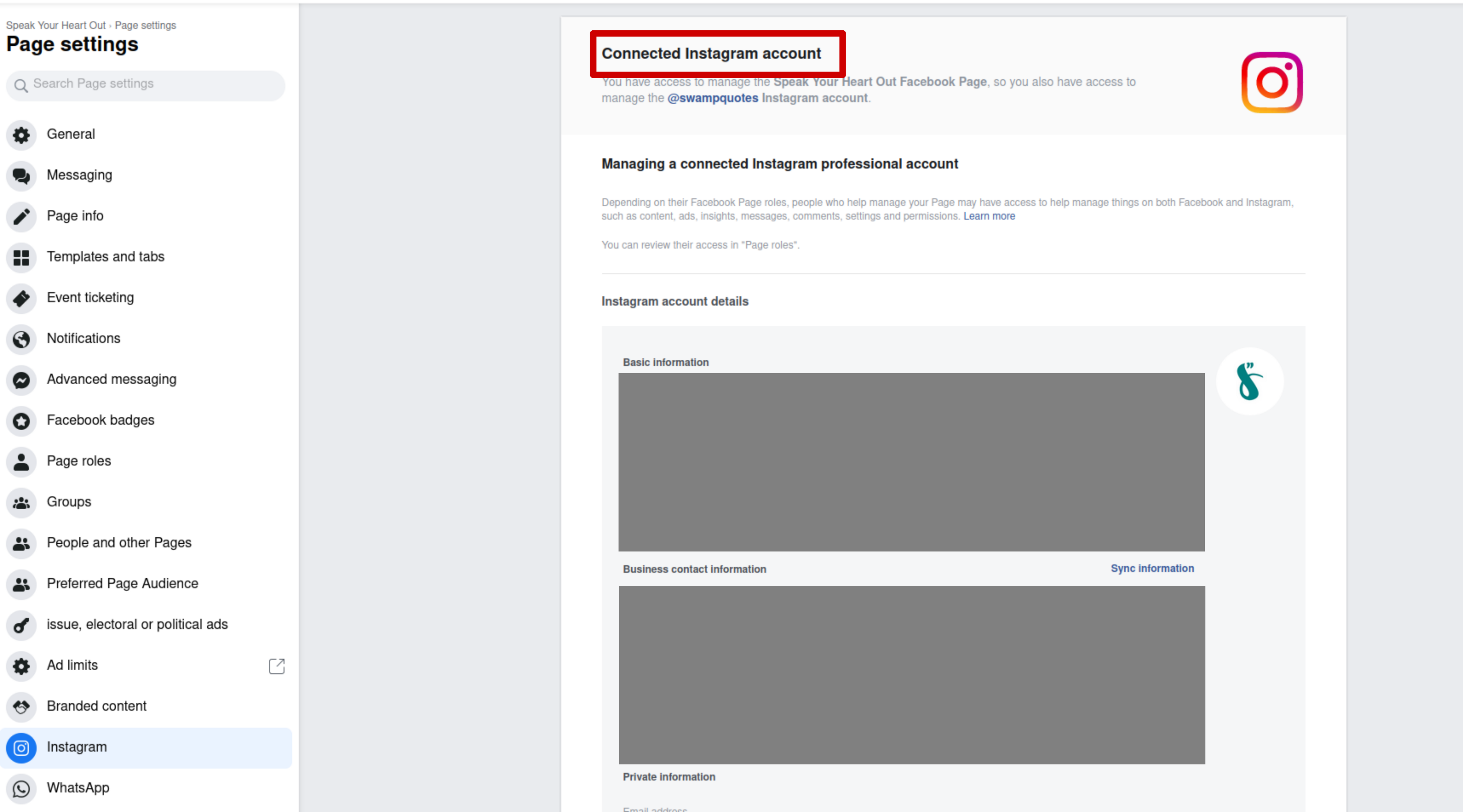 Connecting Facebook Page and Instagram account to schedule postings with Facebook Business Suite