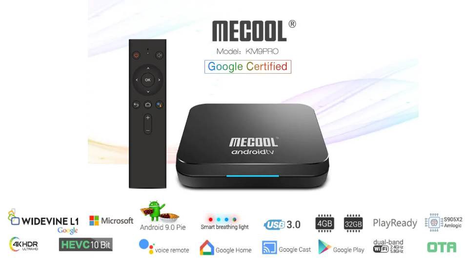 Mecool KM9 Pro Amlogic S905X2 DDR4 4K TV Box with Google Certification and  Android TV 9.0 Pie | Full Review | by Global Techs | Medium