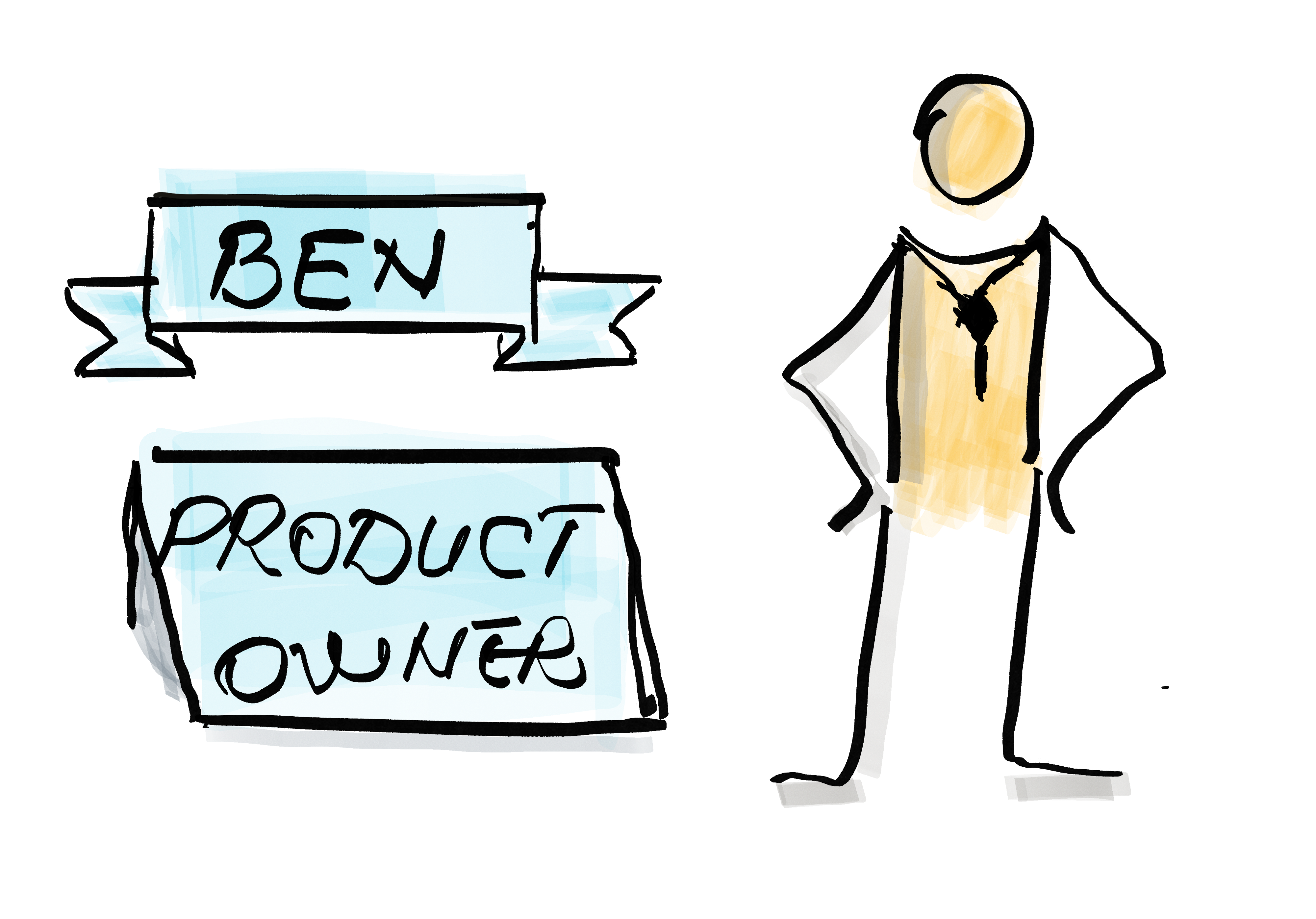 A product owner and his title and name — Ben