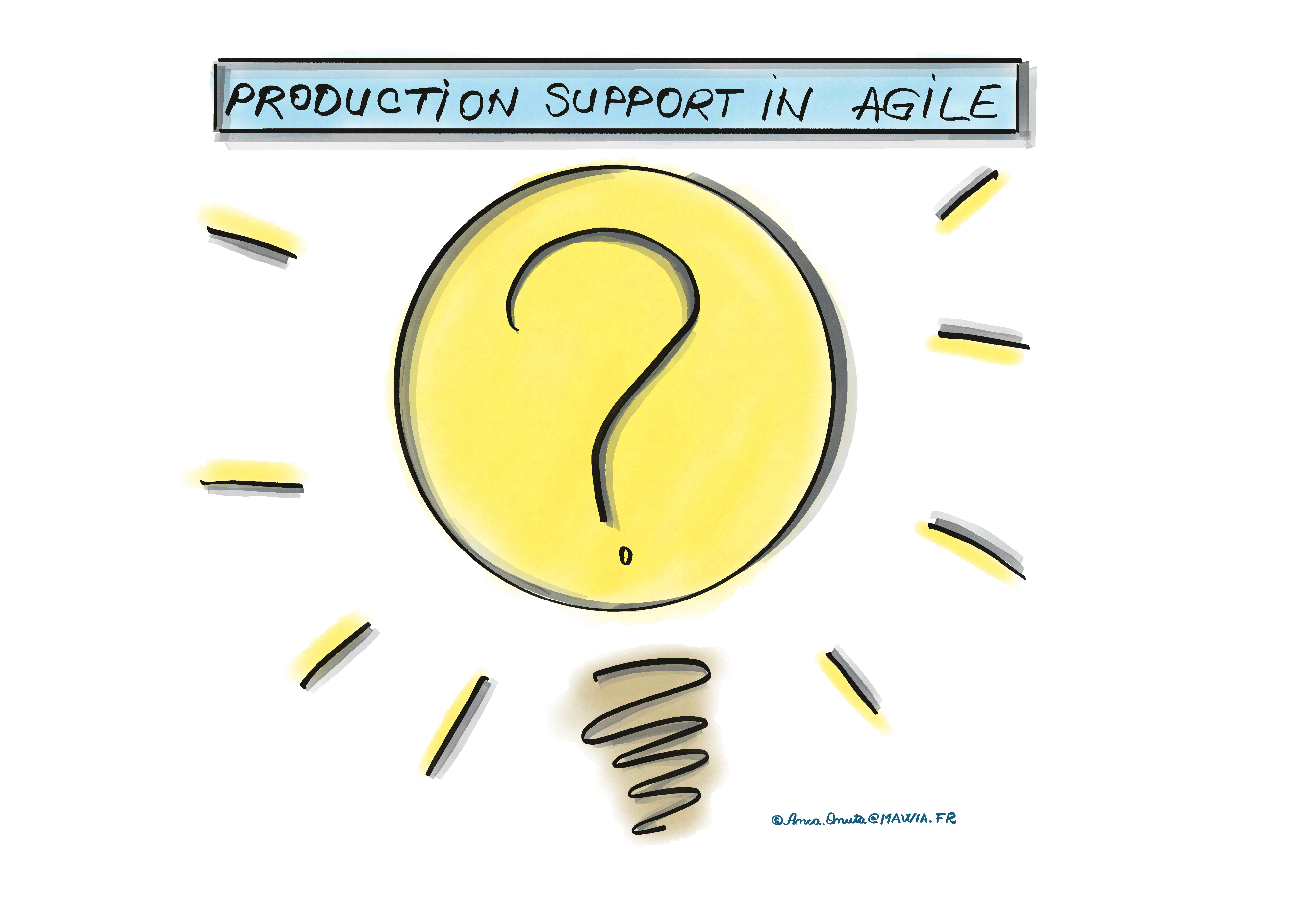 Idea Bulb on how to manage Production Support in Agile