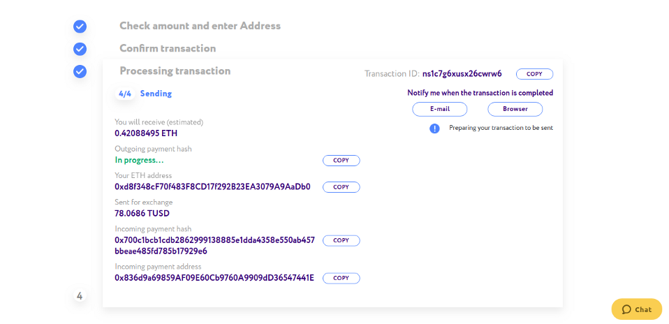 0*Zx3N3ZsA1lK7OgiX - How to exchange cryptocurrency on ChangeHero with BRD wallet?