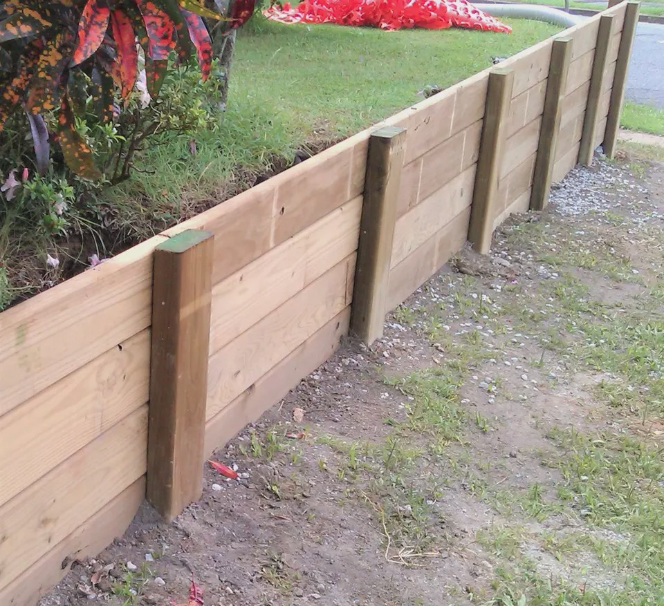 How To Build A Wood Retaining Wall Woodwork Family Medium