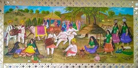 A scene in the life of Kutch village
