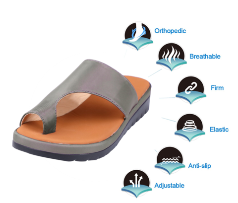 New Women Comfy Platform Sandals For Bunions Pain Relief Treatment at 60% OFF