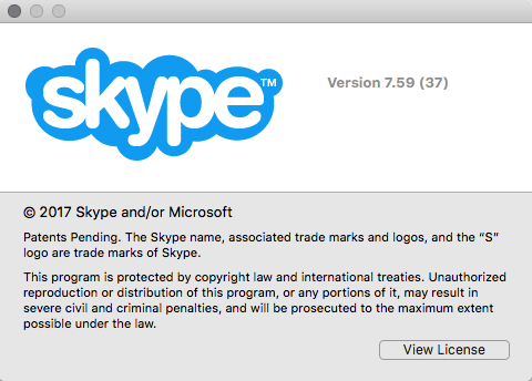 How to install classic skype version (7 5 39) on macOS High