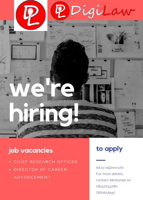 DigiLaw we're hiring job vacancies chief research officer director of career advancement to apply bit.ly/dglrecruits