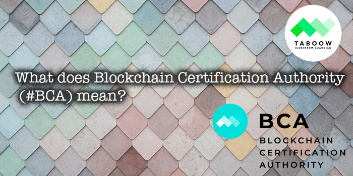 What does #Blockchain Certification Authority (BCA) mean?