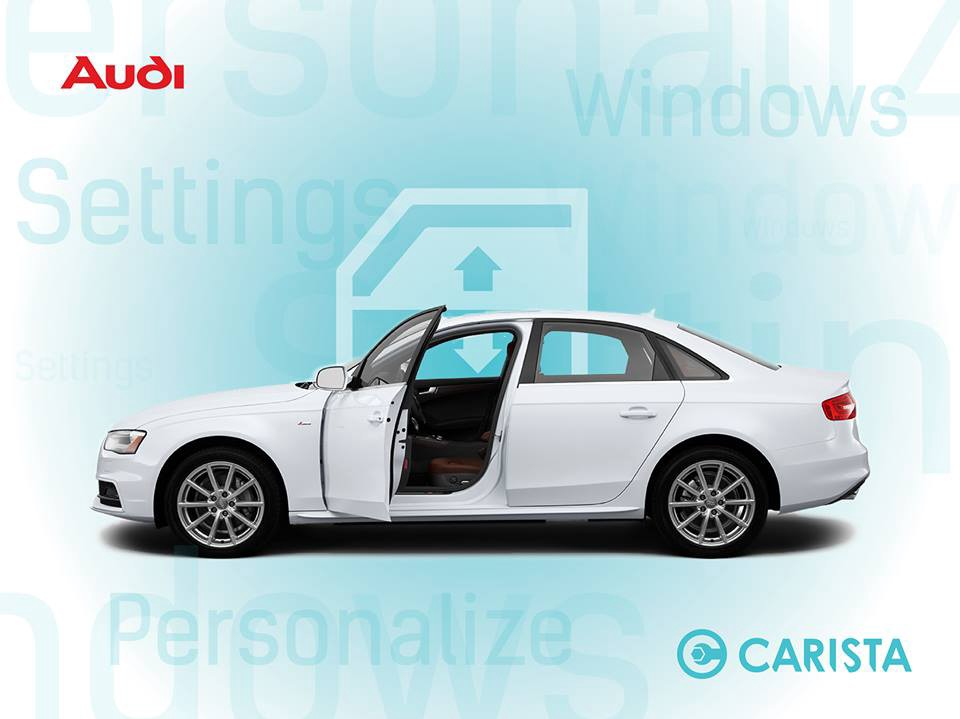How to open and close windows via remote on an Audi A4/A5/A6