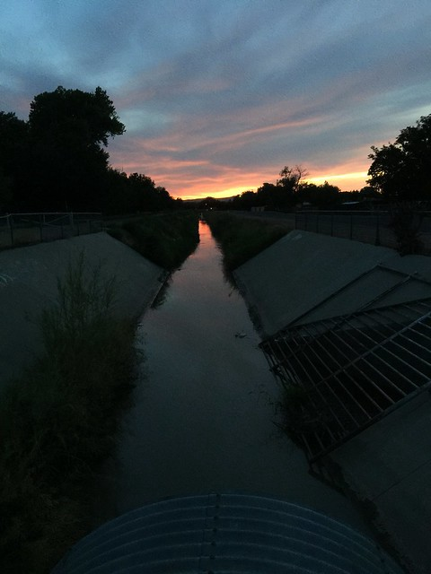The Alameda Drain at sunset