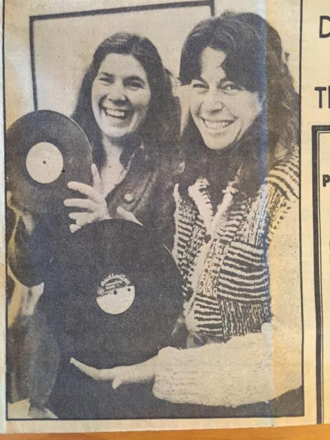 Nikki Silva (left) and Davia Nelson (right) c. 1980 with the Louie Letter that helped them discover their love for found sounds.