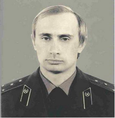 Vladimir Putin in KGB uniform c. 1980. Source: Kremlin Archive. Unknown author
