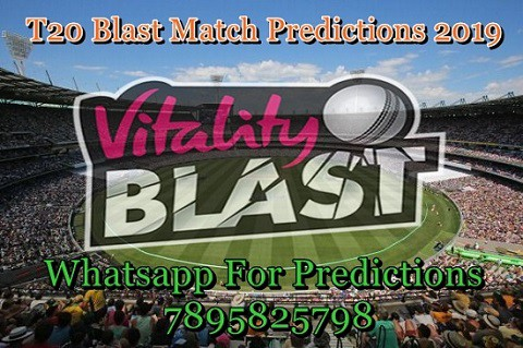 Vitality T20 Blast 2019 All Match Prediction, Astrology