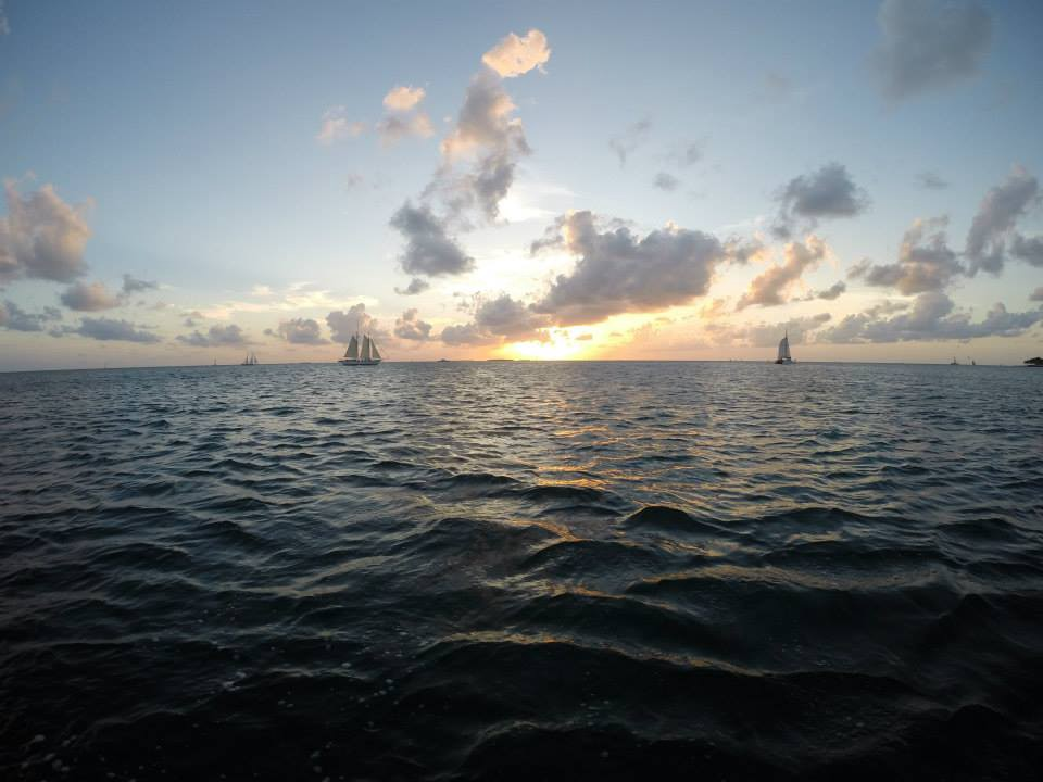 wedding venue vacation: key west sunset sail