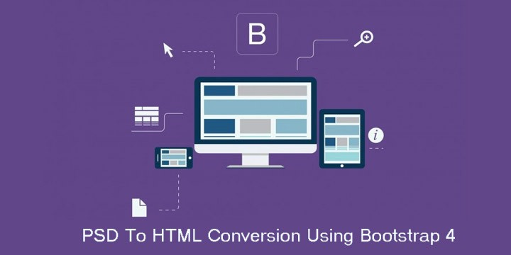 PSD To HTML Conversion Using Bootstrap 4 – Only PSD 2 HTML – Medium