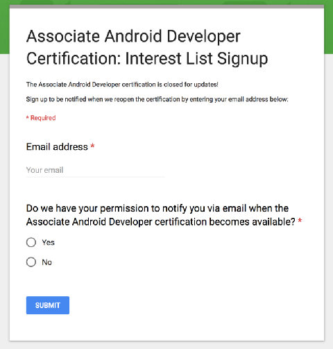 What's new in the Google's Associate Android Developer Certification